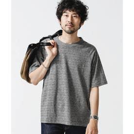 カラーブレンディングラグランTシャツ ブラック