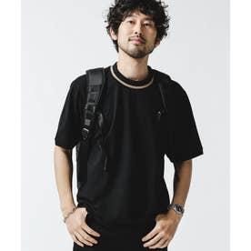 ラインリブカノコTシャツ ブラック