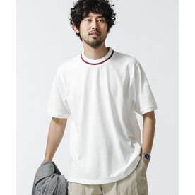 ラインリブカノコTシャツ ホワイト