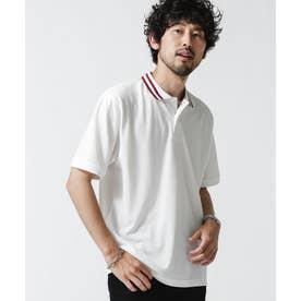 ラインリブカノコポロシャツ ホワイト