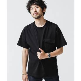 合繊ポケットドッキングTシャツ ブラック