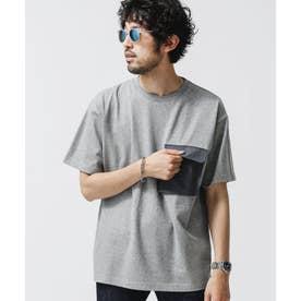 合繊ポケットドッキングTシャツ トップグレー4