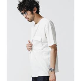 合繊ポケットドッキングTシャツ ホワイト