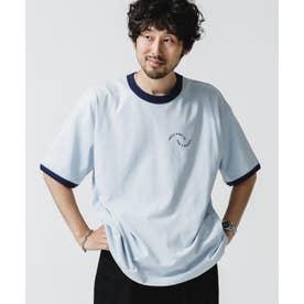 ロゴプリントトリムビッグTシャツ サックス5