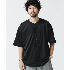 ハニカム切替えベースボールシャツ ブラック