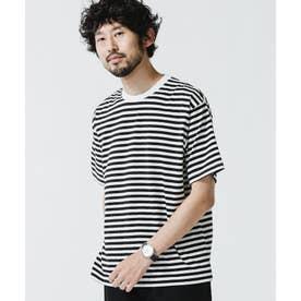 チーフ・バリュー・オブ・コットン ボーダーTシャツ ブラック