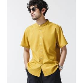 《WEB限定》エントリーバンドカラーシャツ/半袖 マスタード3