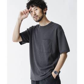 リラックスフィットワッフルTシャツ 半袖 スミクロ1