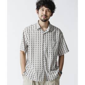 総柄プリントレギュラーカラーシャツ パターン1