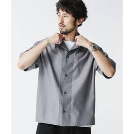 カラードッキング オープンカラーシャツ グレー
