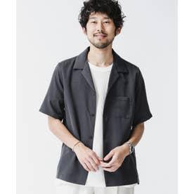 ドレープオープンカラーシャツ 半袖 スミクロ1