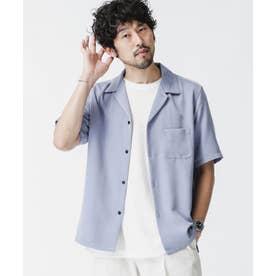 ドレープオープンカラーシャツ 半袖 ブルーグレー5
