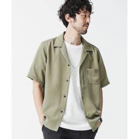 ドレープオープンカラーシャツ 半袖 カーキ