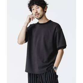 SORONAポンチクルーネックTシャツ ブラック