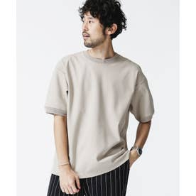 SORONAポンチクルーネックTシャツ ベージュ