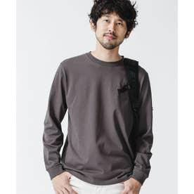 《WEB限定》超長綿リラックスフィットクルーネックTシャツ 長袖 スミクロ1