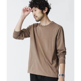 《WEB限定》超長綿リラックスフィットクルーネックTシャツ 長袖 モカ3