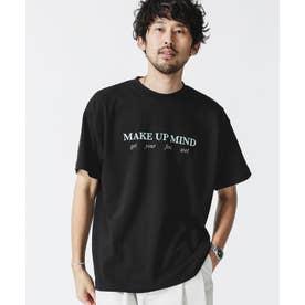 カラーロゴプリントクルーネックTシャツ ブラック
