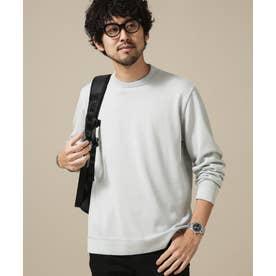 [思いきり洗えるニット] × ジャケT 長袖 ホワイトグレー8