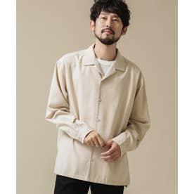 ドロップビッグシャツ 長袖 ライトベージュ1