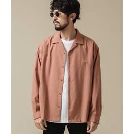 ドロップビッグシャツ 長袖 ピンクベージュ6