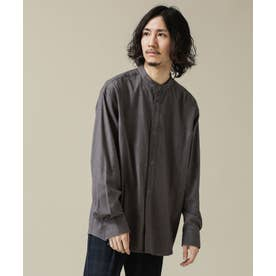 SORONA リングドットバンドカラーシャツ チャコール3