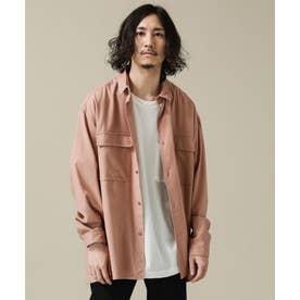 SORONA ビッグポケットワイドシャツ ピンク