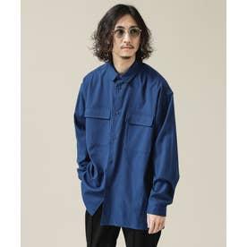 SORONA ビッグポケットワイドシャツ D.ブルー2