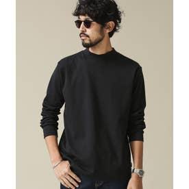 《イヤな臭いを軽減》Anti SmellモックネックロングスリーブTシャツ ブラック