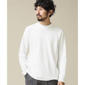 《イヤな臭いを軽減》Anti SmellモックネックロングスリーブTシャツ ホワイト