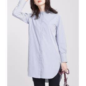 スタンドカラーロングシャツ パターン1