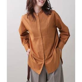 ピンタックロングシャツ D.オレンジ2