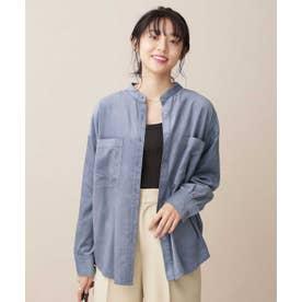 ライトコールスタンドカラーシャツ ブルーグレー5