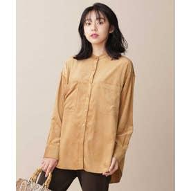 ライトコールスタンドカラーシャツ L.キャメル6