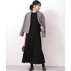 WEB限定/リブニットトップス&スカートセット ブラック