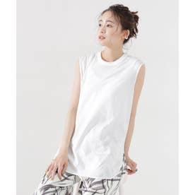 ビューティークチュール 防汚 Tシャツ ノースリーブ ホワイト
