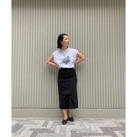 WEB限定/スリットタイトスカート ブラック