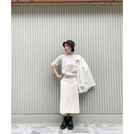 WEB限定/スリットタイトスカート アイボリー7
