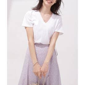 Anti Soaked 汗染み防止 VネックTシャツ 半袖 ホワイト
