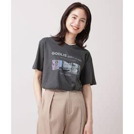 GODLIS フォトTシャツ 半袖 チャコール3