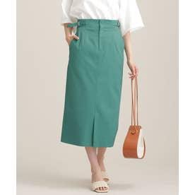 サイドパーツ付きスカート グリーン