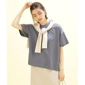 SHINY Tee オーバーTシャツ 半袖 ブルー