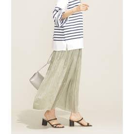 WEB限定/ヘリンボンプリーツスカート ミント2