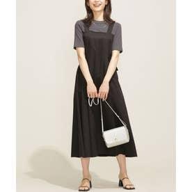 WEB限定/サイドベルトジャンパースカート ブラック