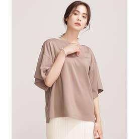エコミラクルアップ スリットスリーブTシャツ 半袖 モカ3