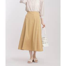 サテンフレアースカート L.キャメル6