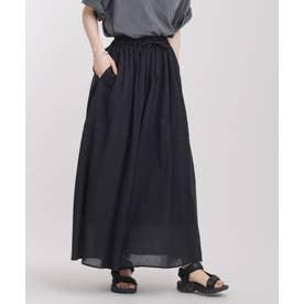 ボイルギャザースカート ブラック