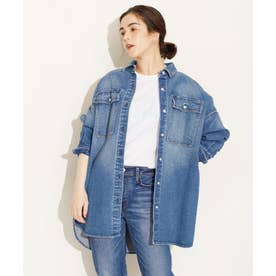 Healthy DENIM/別注Almond デニムビッグシャツ 長袖 ブルー