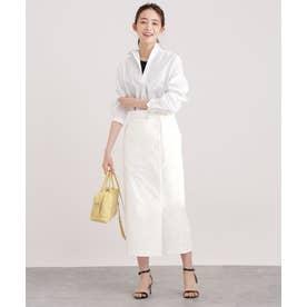サスペンダー付きタイトスカート ホワイト