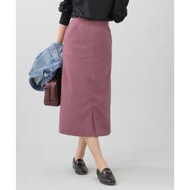 WEB限定/スリットタイトスカート モーブ5